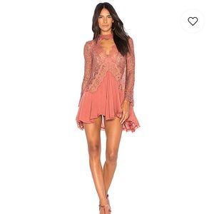 NEW NWT Free People Telltale Tunic Pink Dress